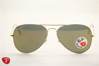 Aviator , rb 3025 golden frame golden flash polarized lens ,unisex sunglasses