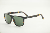 rb4147 flat top tortoise frame green lens unisex oversize sunglasses ,60mm