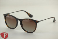 Erika rb 4171 865/13 matte tortoise frame brown gradual polarized sunglasses,54mm
