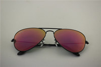aviator , rb 3025 002/68F,black frame purple flash lens, 58 62mm