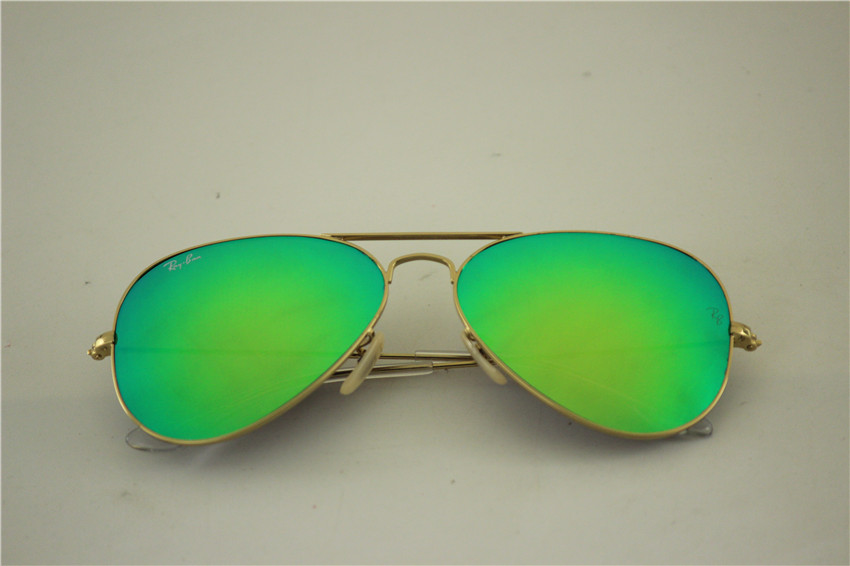 Aviator RB3025 112/19,golden frame green flash lens.55 58 62MM