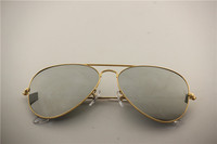 Aviator ,rb 3025 001/40 golden frame silver flash mirror lens,unisex sunglasses ,55 58 62 mm