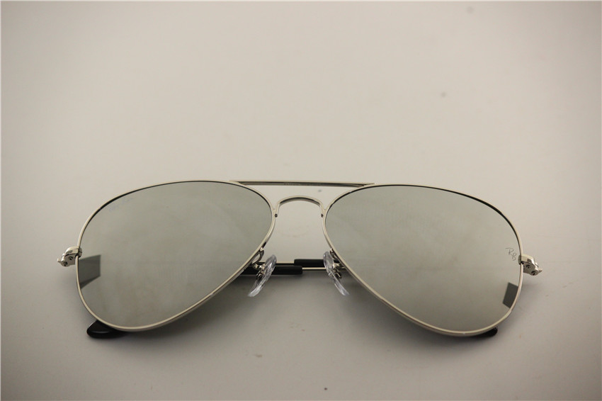 Aviator , rb 3025 003/40 full silver flash lens , unisex sunglasses ,55 58 62 mm