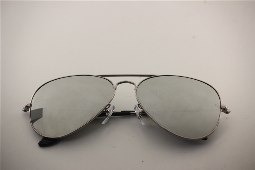 Aviator , rb 3025 004/40 gunmetal frame silver flash lens , unisex sunglasses 55 58 62
