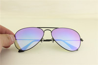 Aviator ,rb 3025 002/4O black frame blue gradual flash lens, unisex sunglasses ,58mm