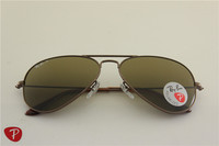 Aviator ,rb 3025 014/57 golden frame brown polarized lens ,unisex glasses ,58 62mm